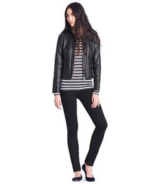 Great leather jacket for Fall! Emmy Leather Jacket | Womens Jackets & Outerwear | ToryBurch.com