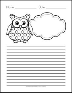 Free Owl Writing Paper and LOTS of other classroom owl freebies