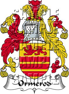 Ormerod Family Crest apparel, Ormerod Coat of Arms gifts