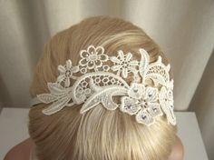 Ivory Lace Headband