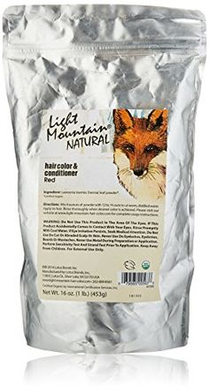 Light Mountain Natural Bulk Hair Color and Conditioner, Red, 16 Ounce *** You can find more details at