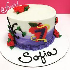 The Descendants Cake Disney 29th Birthday Cakes, 10th Birthday Parties, 8th Birthday, Birthday Ideas, Desendants Cake, Cake Art, Beautiful Cakes, Amazing Cakes, Tartelette