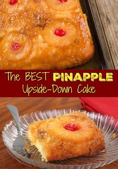 This Pineapple upside down cake is a classic dessert that's super soft and moist topped with caramelized pineapples and cherries. Delicious Cake Recipes, Best Cake Recipes, Yummy Cakes, Favorite Recipes, Yummy Food, Pineapple Desserts, Pineapple Cake, Pineapple Upside Down Cupcakes, Homemade Pineapple Upside Down Cake Recipe