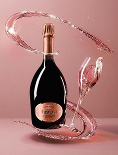 Ruinart NV Rose Champagne, the pinot noir gives it silky, soft red currant and rose petal palatte while the chardonnay provides an elegant finesse which is so characteristic of ruinart. enjoy as an aperitif or with light seafood canapés. Best Rose Champagne, Pink Champagne, Champagne Images, In Vino Veritas, Pinot Noir, Sparkling Wine, Wine And Spirits, Fine Wine, Prosecco