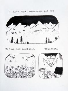 I can't move mountains for you, but we can climb them together! | This inspired Main Design! | www.lynnemain.com