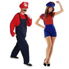 Pareja de Fontaneros Mario Bros #parejas #disfraces #carnaval
