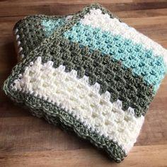 Crochet Granny Stripe Baby Blanket – Creating Me