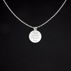 This listing is for a sterling silver pendant/necklace.  Material: - .025 thick sterling silver (.64mm)  Pendant (approximate sizes): - .75 x