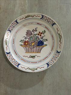 $185  Fine 18th century antique Dutch polychrome delftware, tin glazed earthenware - museum quality & condition