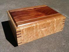 figured maple tea box