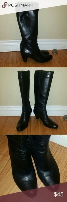"ECCO women's boots Beautiful genuine leather boots in excellent condition. Shoes are very lightweight and comfortable.  Heels are 3"" high. Ecco Shoes Winter & Rain Boots"