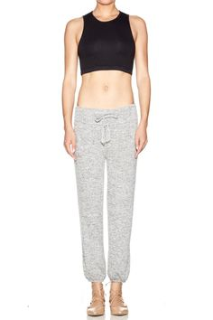 Pebble-like neutral pant that is ankle length and incredibly soft. Clean and wearable with a tee by day or this seasons bare shoulder and strappy sandal by night. Anywhere! Loose fit comfortably at the ankle roll or scrunch up the calf.   Atheleisure Harem Pant by Riller & Fount. Clothing - Bottoms - Pants & Leggings - Joggers Michigan