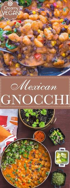 This Vegan Mexican Gnocchi Recipe is the Perfect Comfort Food! Its a Quick and Easy One-Pot Weeknight Dinner recipe for the Whole Family to Enjoy