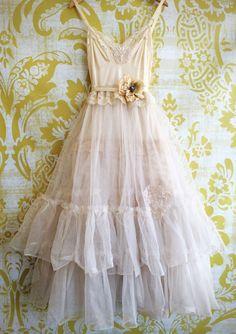 palest pink & bisque alencon lace appliqué soft tulle princess tutu wedding dress by mermaid miss k