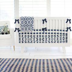 Baby Boy Navy Tribal Baby Bedding  Navy and by NewArrivalsInc