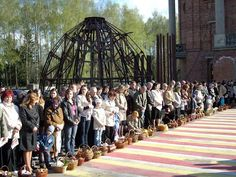 Easter in Ukraine Blessing Food Baskets