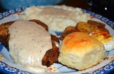 Mrs Happy Homemaker: Chicken Fried Steak with White Gravy