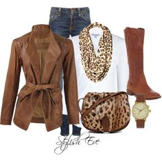 Leopard Casual Outfit !, created by stylisheve on Polyvore
