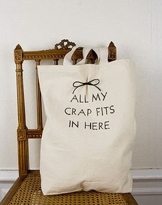 Funny bag! and so something I would say lol.