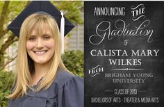 Great ideas for graduation gift ideas and announcements #graduation