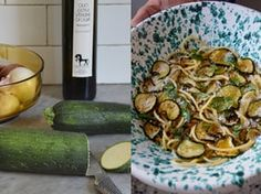 A Sicilian recipe for spaghetti with courgette, mint and pecorino | A kitchen in Rome | Life and style | The Guardian