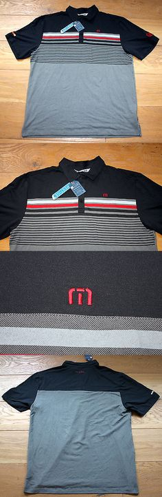 478a7c8f1 Shirts Tops and Sweaters 181138: New Men S Travis Mathew Golf Black Gray  Red Seven Oaks Country Club Polo - Large -> BUY IT NOW ONLY: $39.95 on eBay!