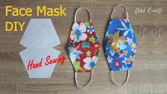 how to make a face mask-DIY mask-Criando uma máscara-Utwórz maskę-면 마스크 - New ideas Fabric Crafts, Sewing Crafts, Sewing Projects, Easy Face Masks, Diy Face Mask, Sewing Hacks, Sewing Tutorials, Sewing Case, Mask Making