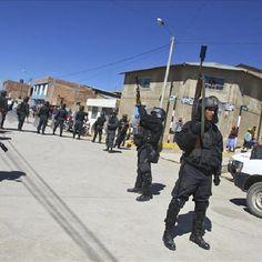 Perú militariza zona de Arequipa ante protestas antimineras