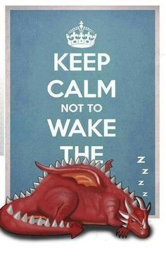 keep calm not to wake the dragon