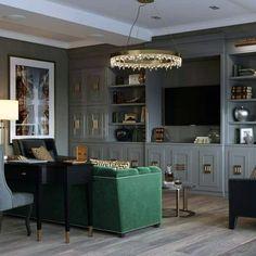 Wall Unit Designs, Living Room Tv Unit Designs, Tv Wall Design, House Design, Design Art, Fireplace Tv Wall, Modern White Bathroom, Traditional House, Living Room Decor