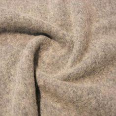 Tvättad/tovad ull - Ljusgrå - 142 cm