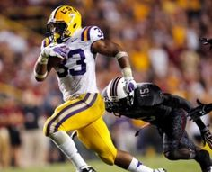Jeremy Hill, LSU running back.  Stay straight young man!