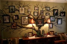 homeschool classroom Family tree (part art project, part genealogy research, part photo display)