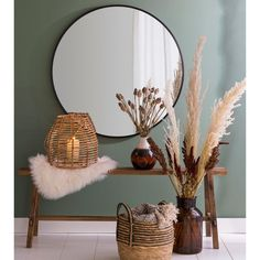 Pampas grass - 3 stems That& nice from Xenos - Pampas gras – 3 stengels Home Living Room, Living Room Decor, Cottage Interiors, Trendy Home, My New Room, Interior Inspiration, House Design, Interior Design, Furniture