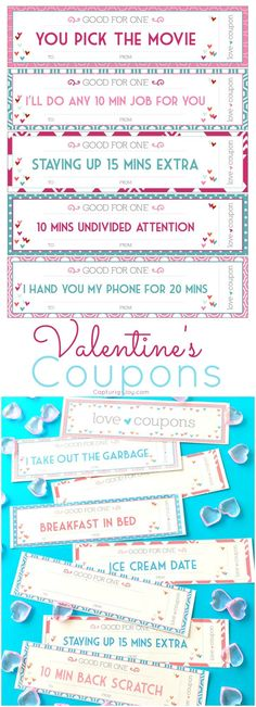 DIY Valentine Coupons! A fun Valentine's day gift idea! www.Capturing-Joy.com