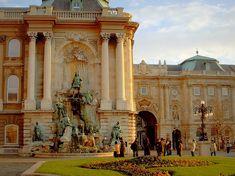Budapest palace courtyard , Hungary