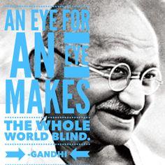 gandhi eye for eye