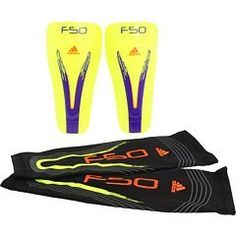 adidas F50 Pro Lite Shin Guard (Electricity, Anodized Purple, Infrared, Small) by adidas. $15.99. Soft synthetic lining. High comfort. Hard shell. Highly protective front plate. Slip-in construction. Lightweight construction without strapping. EVA soft and durable cushioning backing material. Compression sleeve for support of blood backflow to the center of the body and easy fixation tool for the guard.