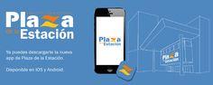 Diseño para promocionar la instalación de las Apps de iOS y Android del CC Plaza de la Estación