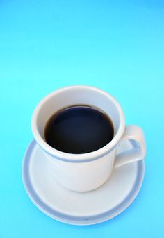 Taza, Cafe, Un Objeto, Bebida, Caliente, Celeste, Azul, Desayuno,P052014, Freejpg