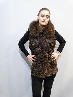 23165be907473 Real Fur Astrakhan-Karakul with Fox Collar