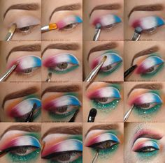 Nautical Mermaid Makeup Tutorial with Product List >> Visit wite for details with @nalbantova   #nautical #summer #bright #eye #makeup #howto #tutorial #editorial #beauty #bblogger #mermaid