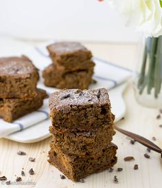 Brownies de Aveia e Cenoura by anitahealthy