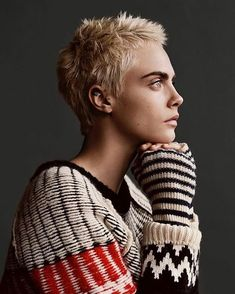 """219 Likes, 4 Comments - Short hair isn't just for boys (@hashtagpixiecuts) on Instagram: """"#pixiecuts From @caradelevingne & @burberry (seen on @limelighthair13)"""""""