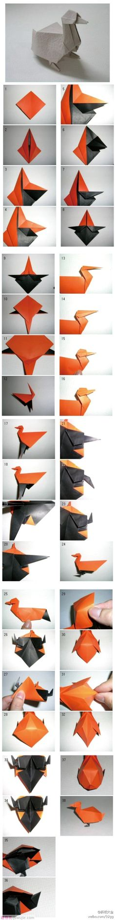 Origami paso a paso navidad 59 Ideas Origami Duck, Origami Paper Folding, Origami And Kirigami, Paper Crafts Origami, Origami Easy, Oragami, Origami Instructions, Origami Tutorial, Arts And Crafts