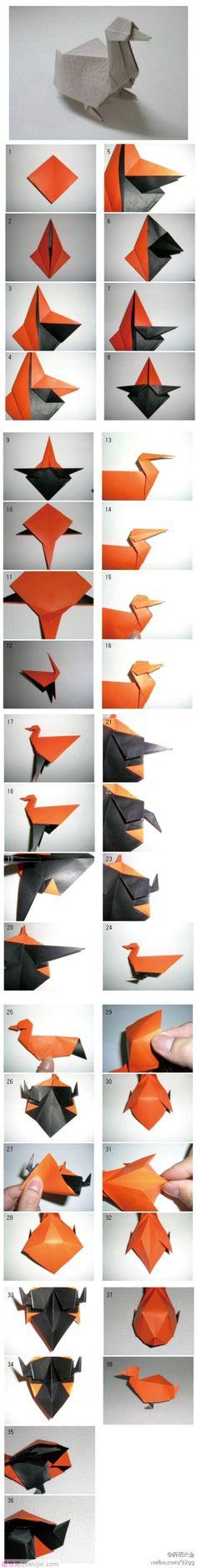 3d Duck Origami.