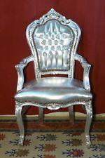 Poltrona legno argento/similpelle argento