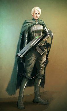 Soldato Spadano donna. Female Guard by Conceptbloke.deviantart.com on @deviantART