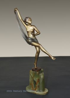 An Art Deco Josef Lorenzl bronze, Austria circa 1930s.