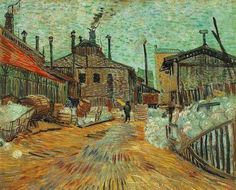 """""""The Factory at Asnieres"""" by Vincent van Gogh (1887)"""